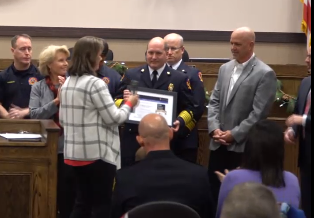 Fire Department Recognized for Outstanding Cardiac Care
