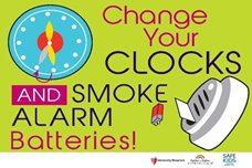 Change Your Clocks, Change Your Smoke Alarm Batteries