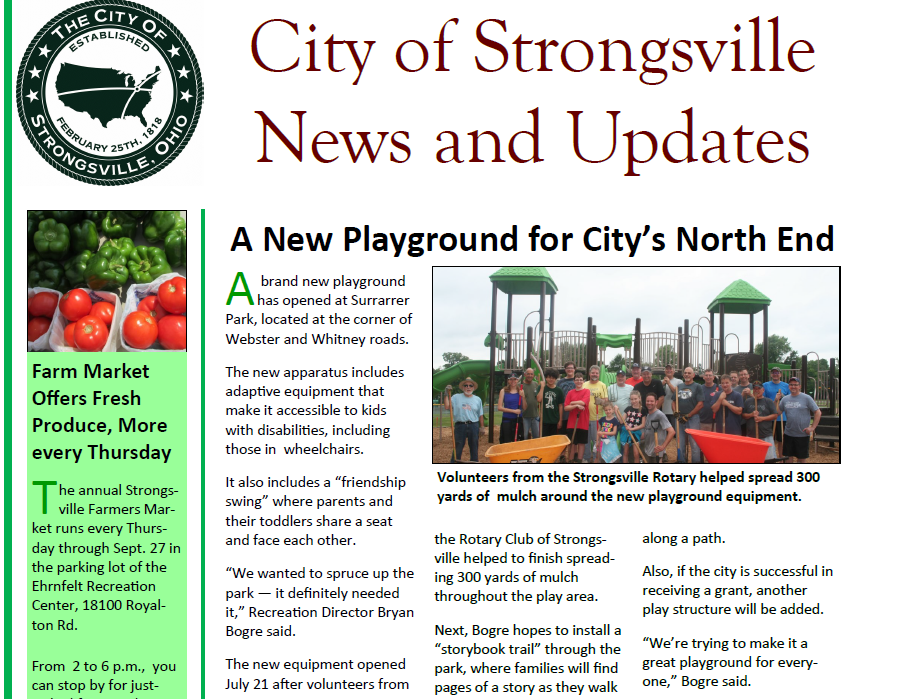 Here's the August Newsletter