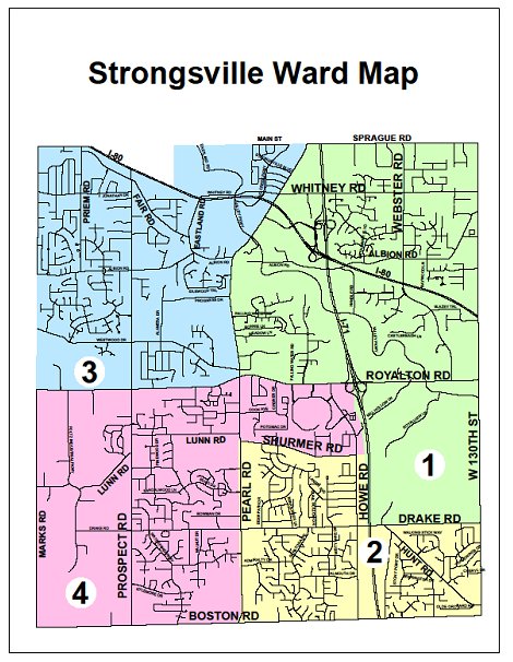 Residential Survey Ward Map City Of Strongsville