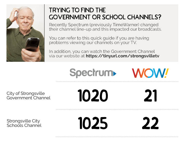 Local Government Channel has Changed for Spectrum Customers   City